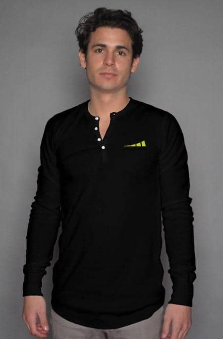 Apliiq tshirts S / Black Without Limits™ Men's Long Sleeve Henley