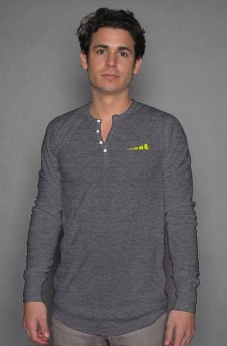 Apliiq tshirts S / Dark Grey Heather Without Limits™ Men's Long Sleeve Henley