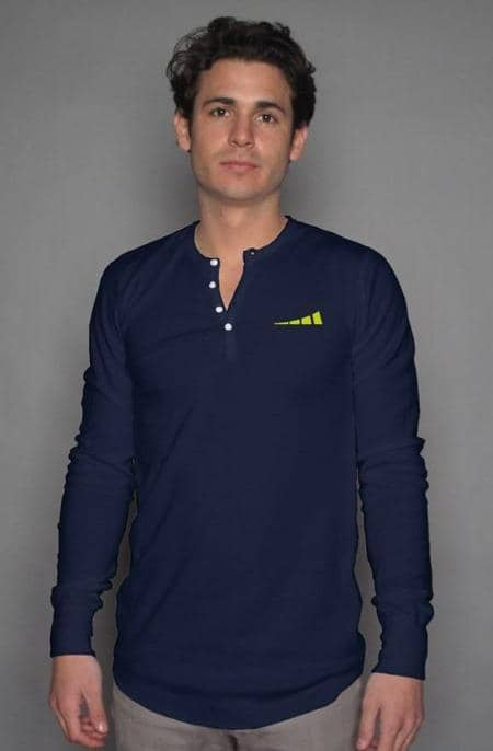 Apliiq tshirts S / Navy Without Limits™ Men's Long Sleeve Henley