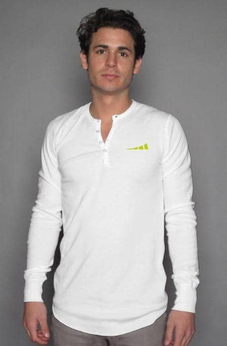 Apliiq tshirts S / White Without Limits™ Men's Long Sleeve Henley