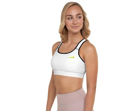 Without Limits™ Padded Sports Bra Runners Essentials White L