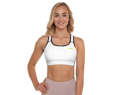 Without Limits™ Padded Sports Bra Runners Essentials White XS