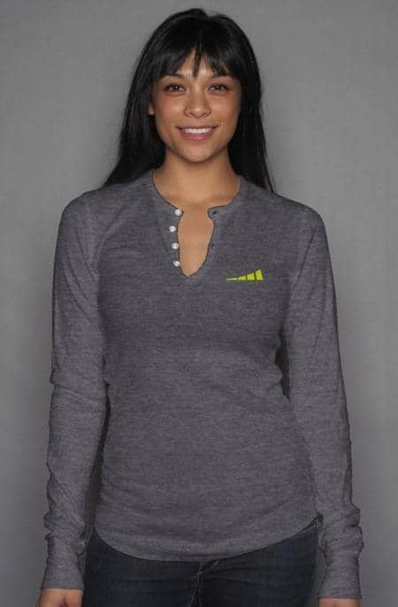 Apliiq tshirts S / Dark Grey Heather Without Limits™ Women's Long Sleeve Henley