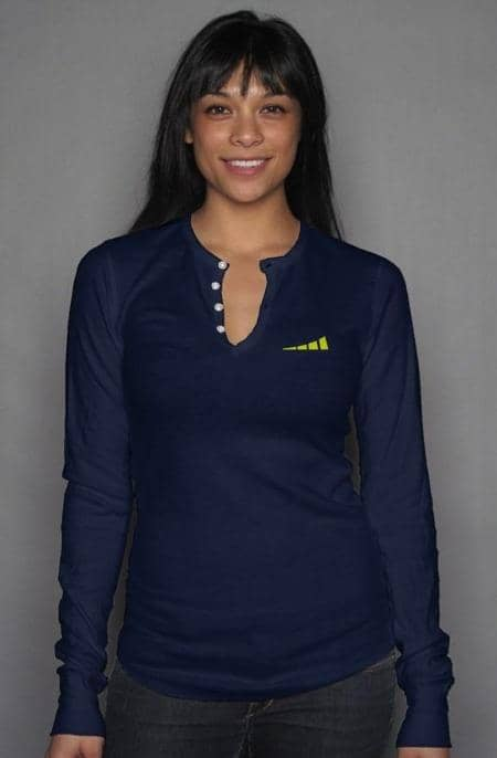 Apliiq tshirts S / Navy Without Limits™ Women's Long Sleeve Henley