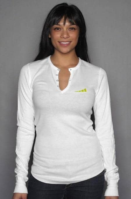Apliiq tshirts S / White Without Limits™ Women's Long Sleeve Henley