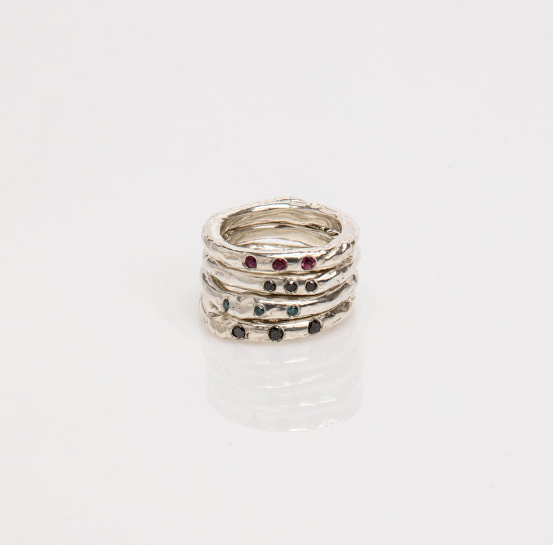 Melted Ring, Rubies