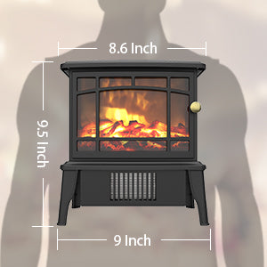 OPOLAR Mini Portable Electric Fireplace Heater