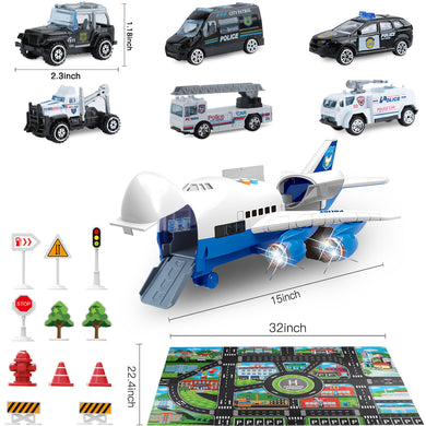 Police Toy Cars Set
