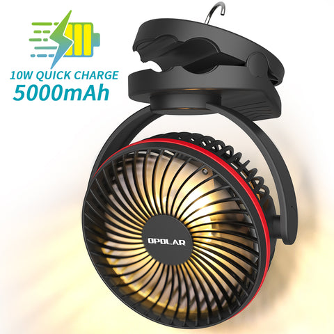 OPOLAR 10000mAh Camping Lantern Clip On Fan