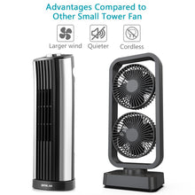 Load image into Gallery viewer, 10000 mAh Rechargeable Tower Fan, Desk Fan