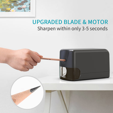 Electric Industrial Pencil Sharpener with Heavy Duty Helical Blade
