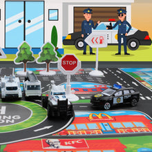 Load image into Gallery viewer, Police Toy Cars Set