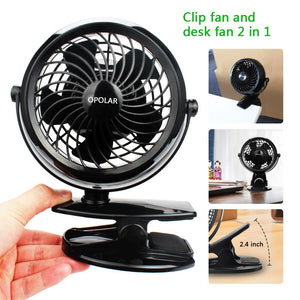 OPOLAR Stroller USB or Batteries  Clip Fan
