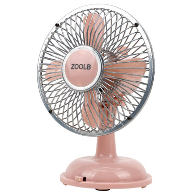 ZOOLB Small Mini USB fan, Portable, Battery Powered, Oscillating, 3 Speeds, Fan-head Adjustable, Perfect cooling fans for Home, Travel & Work