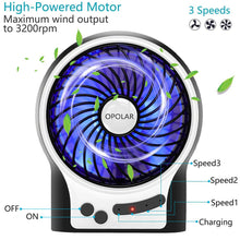 Load image into Gallery viewer, OPOLAR Battery Operated USB Rechargeable Desk Fan