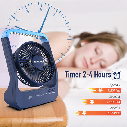 OPOLAR NEW 20000mAh Rechargeable Battery Operated Desk Fan