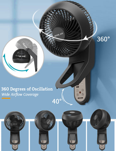 OPOLAR 2020 Wall Mount Air Circulator Fan with Remote
