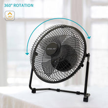 Load image into Gallery viewer, OPOLAR Metal Frame 9 Inch Battery Operated Fan-F531