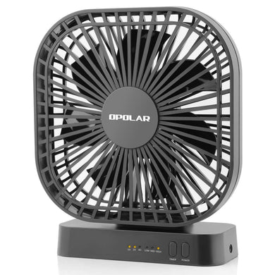 OPOLAR USB or AA Battery Operated Desk Fan