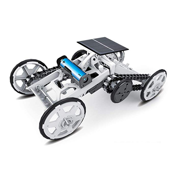 DIY Climbing Solar Powered Car For Building Toys