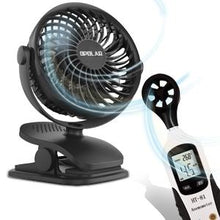 Load image into Gallery viewer, OPOLAR Rechargeable Battery Operated Clip on Fan