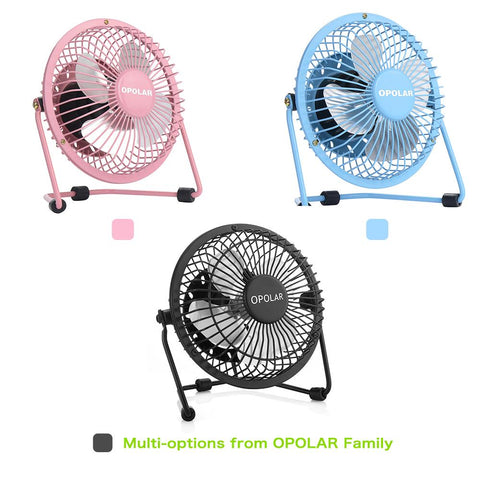 OPOLAR F401 4 Inch USB Small Desk Fan