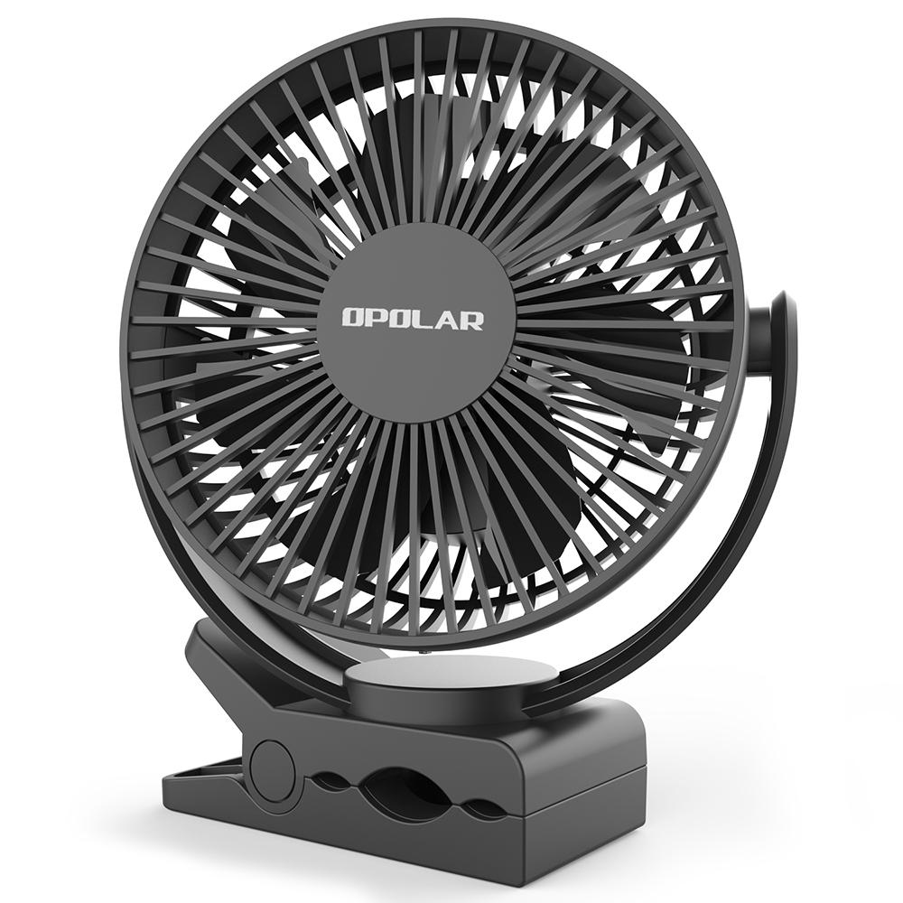OPOLAR Clip Fan with 5200mAh/6700mAh Battery and Timer