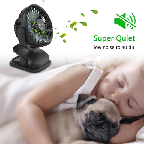 OPOLAR Rechargeable Battery Operated Clip on Fan