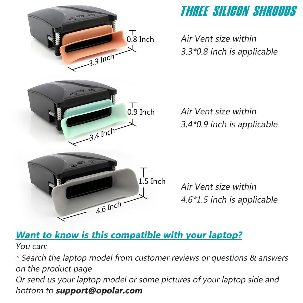OPOLAR Laptop Fan with Temperature Display and Cooling Pads