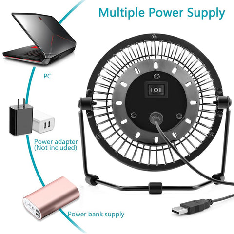 OPOLAR 4/5/6-Inch Office Quiet Desk Fan