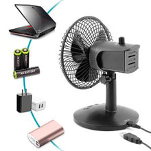 Load image into Gallery viewer, OPOLAR AA Battery Oscillating Desk Fan