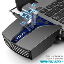 Load image into Gallery viewer, OPOLAR Laptop Cooler with Temperature Display