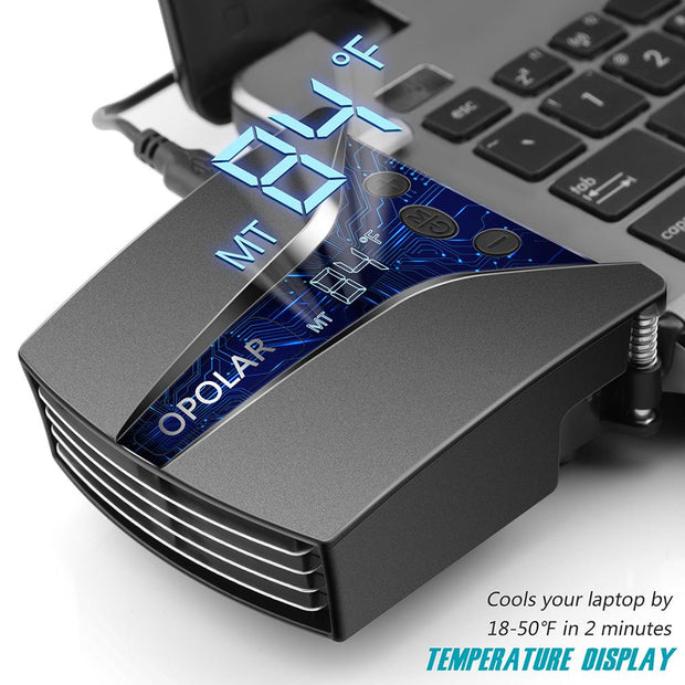 Laptop Cooler with Temperature Display