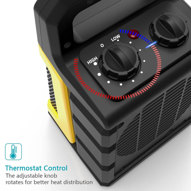 OPOLAR 1500W Adjustable Thermostat PTC Portable Heater