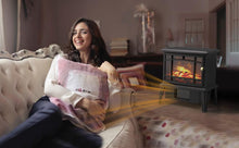 Load image into Gallery viewer, OPOLAR Mini Portable Electric Fireplace Heater