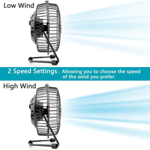 OPOLAR 4/5/6-Inch Two Speeds USB Desk Fan