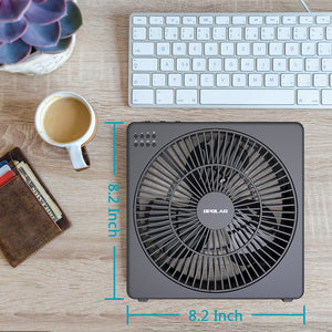 OPOLAR 8 Inch USB Desk Fan(Included Adapter)