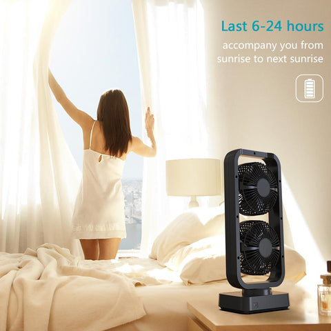 10000 mAh Rechargeable Tower Fan, Desk Fan