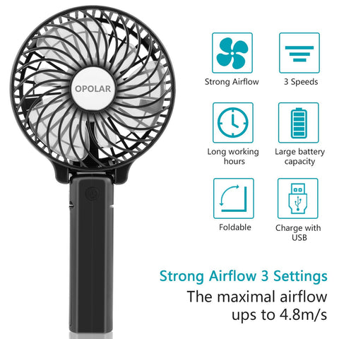 OPOLAR Mini Handheld Battery Operated Personal Fan - 1 Pack