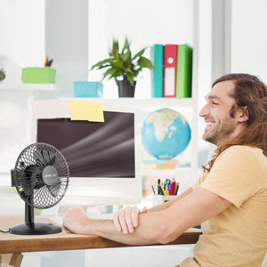 OPOLAR AA Battery Oscillating Desk Fan