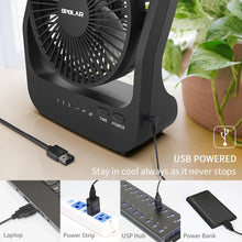Load image into Gallery viewer, OPOLAR USB or 4 D Batteries Desk Fan with Timer