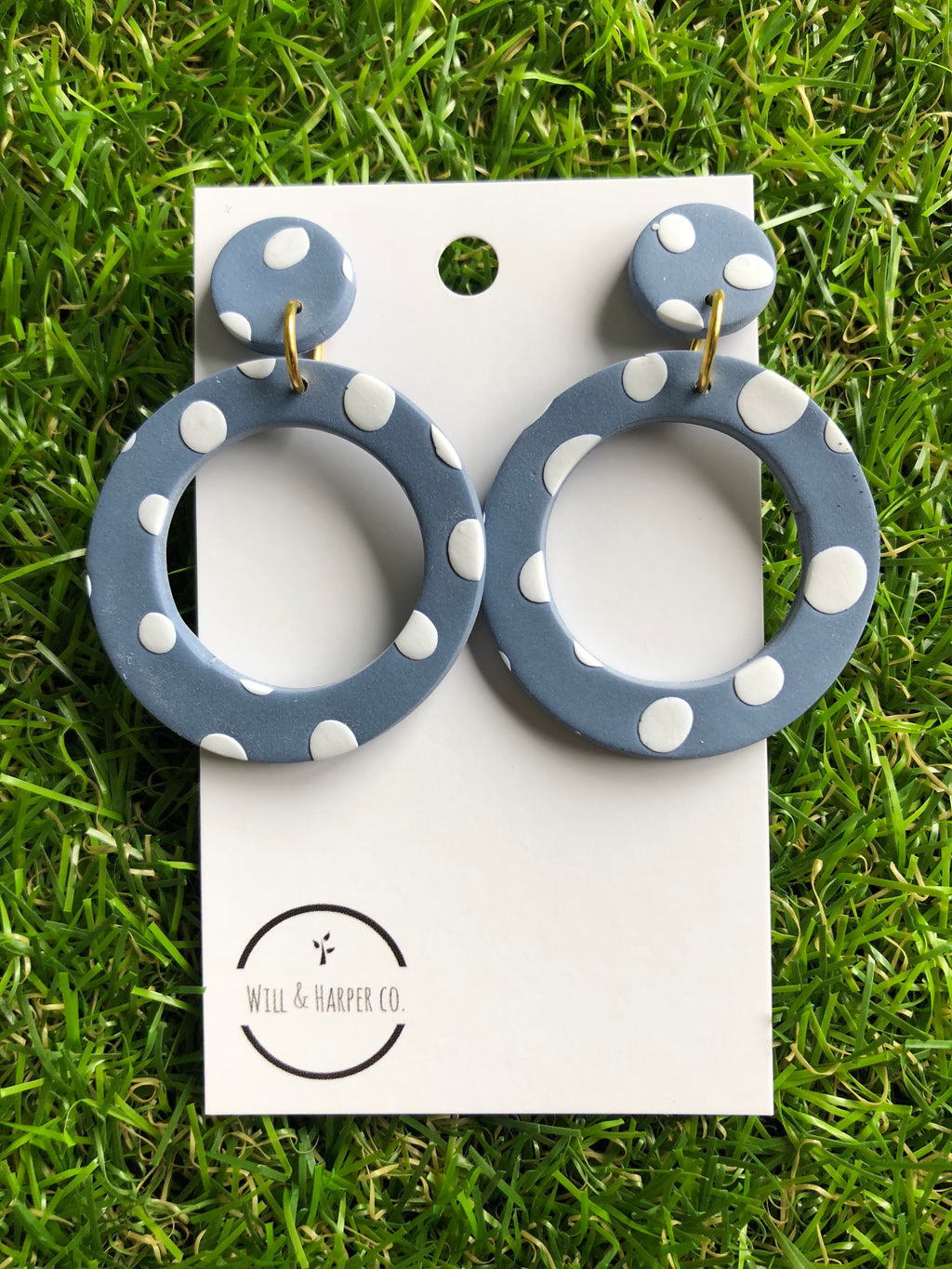 SPOTTY LOTTIE- blue hoops