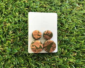 Camo Rose gold Stud pack