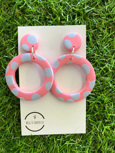 SPOTTY LOTTIE- pink Big hoops