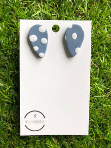 SPOTTY LOTTIE- blue Tear Studs