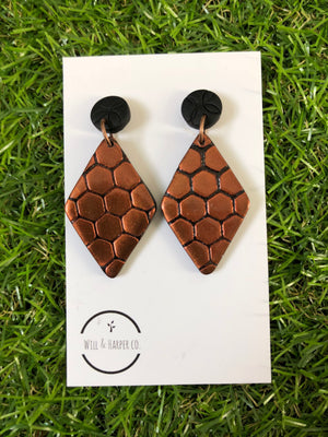 HONEYCOMB- diamond dangle