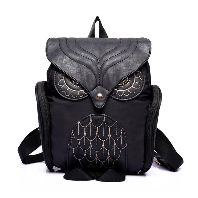Women's Leather Owl Backpack