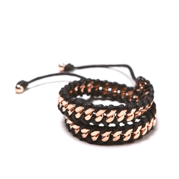ROSE GOLD LINK 2x BLK