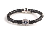PAVE EYE LEATHER CHOKER