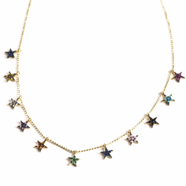 MULTI STAR MULTI COLOR NECKLACE